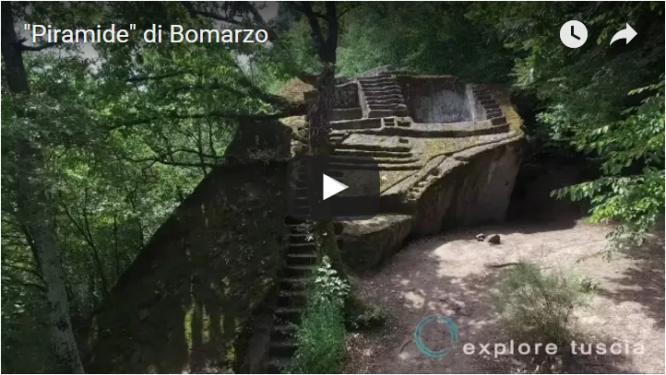 Video della Piramide di Bomarzo da Drone